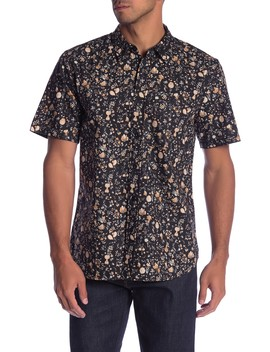 Floral Print Short Sleeve Classic Fit Shirt by Current/Elliott