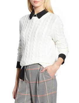 X Atlantic Pacific Cable Sweater by Halogen®