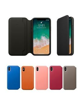 Genuine Leather Folio Flip Wallet Case Cover For Apple I Phone 10 X 8 7 6 Plus 6s by Unbranded/Generic