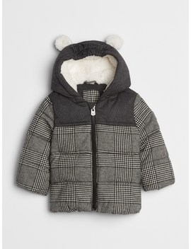 Cold Control Max Herringbone Puffer Jacket by Gap