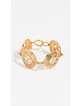 Chanel Gold Burst Coins Bracelet by What Goes Around Comes Around