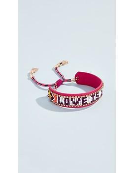 Love Is Love Seed Bead Bracelet by Rebecca Minkoff
