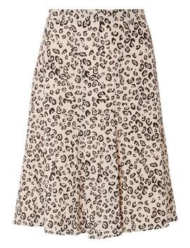 Caroline Leopard Print Silk Crepe De Chine Skirt by Altuzarra