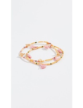 Mixed Bead Stretch Bracelets by Madewell