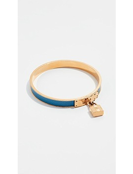 hermes-blue-gold-kelly-lock-bracelet by what-goes-around-comes-around