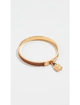 Hermes Brn Epsom Kelly Bangle Bracelet by What Goes Around Comes Around