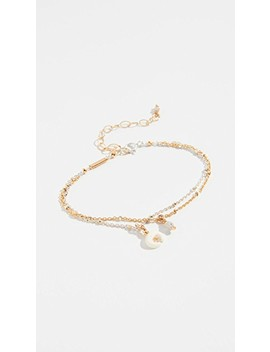 Mix Layered Horn Charm Bracelet by Chan Luu