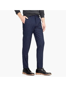Ludlow Slim Fit Pant With Bouclé Pinstripes by J.Crew