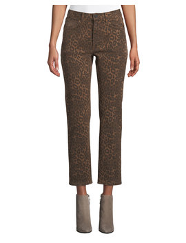Cult Cropped Leopard Print Jeans by T By Alexander Wang