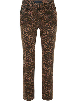 Leopard Print Mid Rise Skinny Jeans by T By Alexander Wang