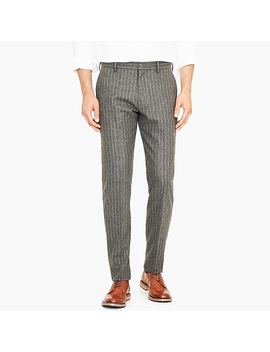 Ludlow Slim Fit Suit Pant In Chalk Stripe Italian Wool Blend by J.Crew