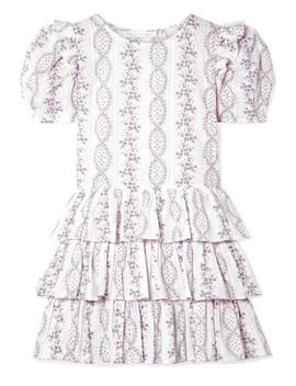 Cata Ruffled Swiss Dot Cotton Gauze Mini Dress by Love Shack Fancy