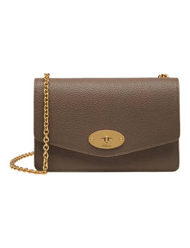 Mulberry Darley Grain Veg Tan Leather Bag, Clay by Mulberry