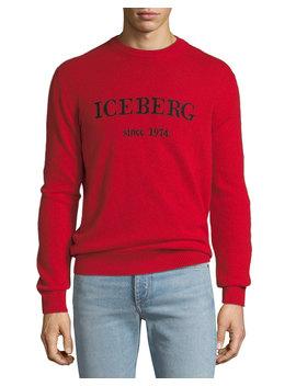 Men's Cashmere Logo Typographic Sweater by Iceberg