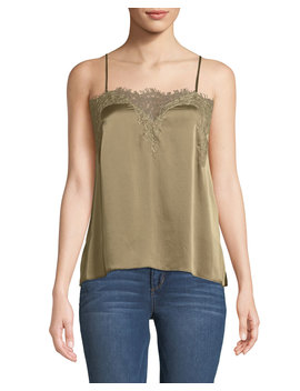 The Sweetheart Charmeuse Cami With Lace by Cami Nyc