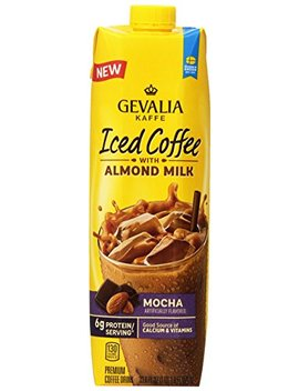 Gevalia Flavored Iced Coffee With Almond Milk, Mocha, 33.8 Ounce Carton (Pack Of 8) by Gevalia