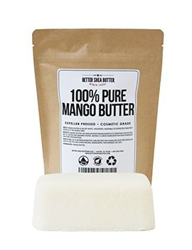 100 Percents Pure Mango Butter   Can Substitute Shea Butter In Soap And Lotion Recipes   Moisturizing, Scent Free, Hexane Free   16 Oz By Better Shea Butter by Better Shea Butter