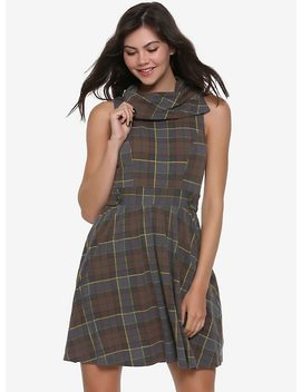 Outlander Fraser Tartan Cowl Neck Dress Hot Topic Exclusive by Hot Topic