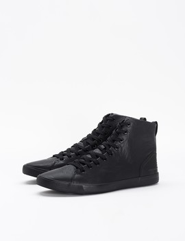 High Top Leather Look Sneakers by Castro
