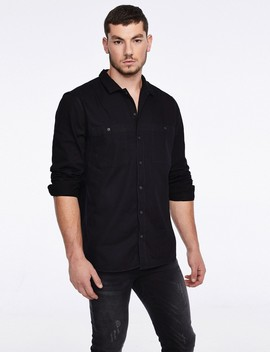 Black Denim Shirt by Castro