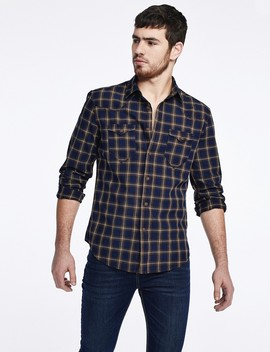 Buttoned Check Shirt by Castro