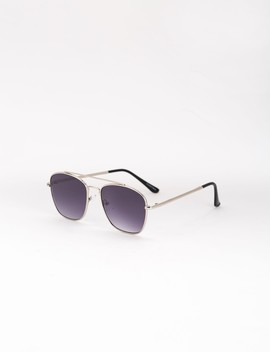 Sunglasses With Upper Bridge Detail by Castro