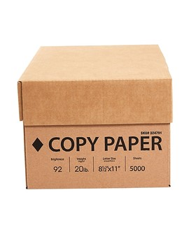 "Copy Paper, 20 Lb., 92 Bright, 8 1/2"" X 11"", White, 10 Ream Case (324791) by Staples"