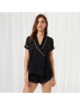 Kara Shirt And Short Black by Bluebella