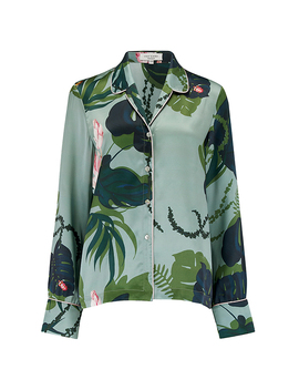 Pyjama Shirt In The Botanist by Violet And Wren