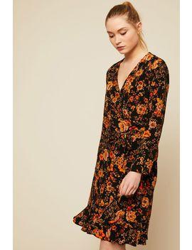 Mid Length Dresse   F18102082 Limon Ls Dress Aop   Print by Monshowroom