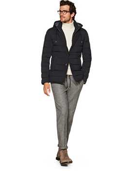 Navy Down Jacket by Suitsupply