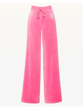 Luxe Crown Velour Mar Vista Pant by Juicy Couture