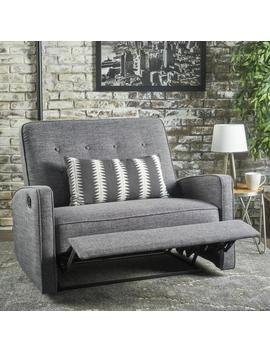 callade-buttoned-fabric-reclining-loveseat by gdf-studio