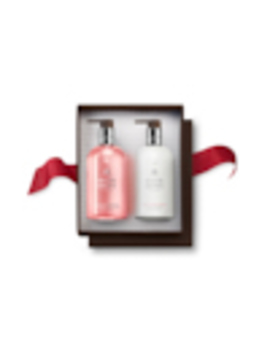 Delicious Rhubarb & Rose Hand Wash & Lotion Set by Molton Brown