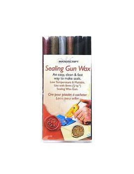 Manuscript Sealing Gun Wax 3 7/8 In. Sealing Gun Wax Traditional Mix Pack Of 6 (Msh7616 Ass) by Manuscript