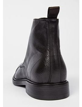 Men's Dip Dyed Black Calf Leather 'jarman' Boots by Paul Smith