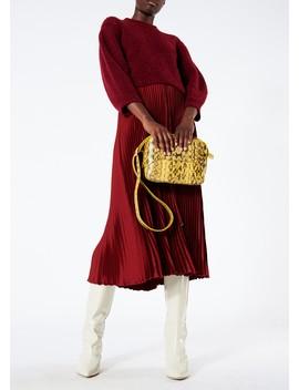 Mendini Twill Pleated Skirt by Tibi