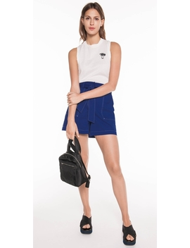 Belted Topstitched Short by Cue