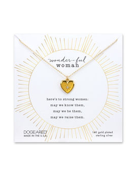 Wonder Ful Woman Heart Necklace, Gold Plated by Dogeared