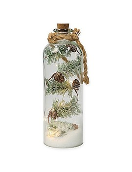 16 Inch Pre Lit Pinecone Jar In White/Silver by Bed Bath And Beyond