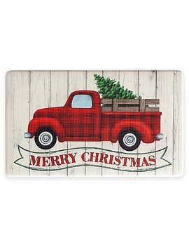 "Holiday Truck Banner 18"" X 30"" Kitchen Rug by Bed Bath And Beyond"