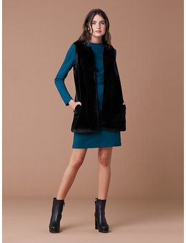 Faux Fur Front Pocket Vest by Dvf