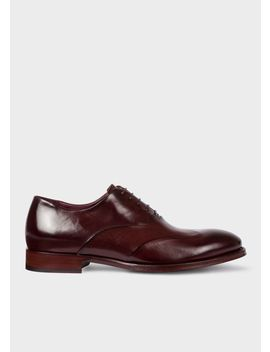 Men's Aubergine Calf Leather 'lomax' Oxford Shoes by Paul Smith