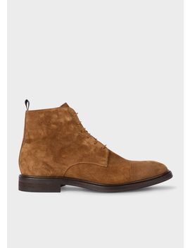 Men's Brown Suede 'jarman' Boots by Paul Smith