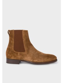 Men's Brown Suede 'joyce' Chelsea Boots by Paul Smith