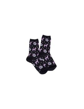 Night Sky Deer Patterned Crew Socks by Vera Bradley