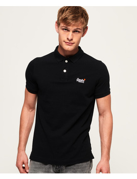 Classic Short Sleeve Pique Polo Shirt by Superdry
