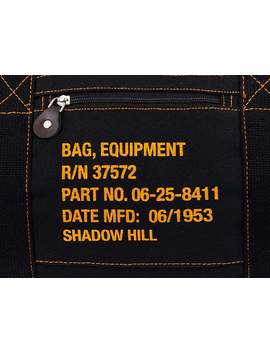Black Travel Duffle Bag by Shadow Hill