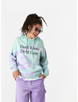 Don't Know Hooded Sweatshirt   Tie Dye by Ashley Williams