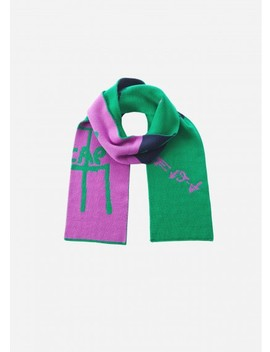 Double Jacquard Wool Scarf by Tibi